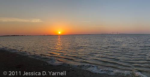 East Beach sunrise panorama