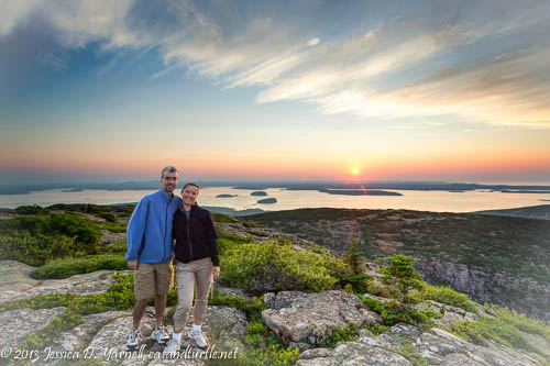Sunrise on Cadillac Mountain, Acadia National Park