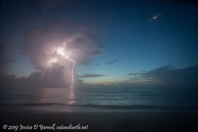 Lightning Offshore at Dawn