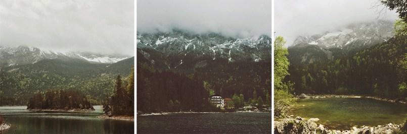 Eibsee bei Nebel