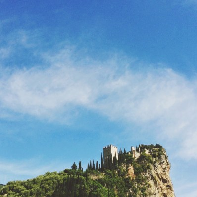 View over the castle in Arco; Lake Garda; Italy; iPhone5s snapshot, mobile photography, edited with mextures & afterlight