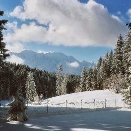 Winter am Barmsee, Werdenfelser Land, Bayern, Deutschland