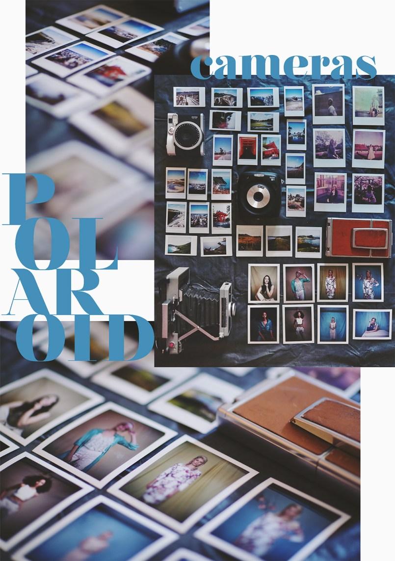 Verschiedene Polaroid Kameras im Vergleich