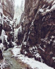 Partnachklamm im Winter; Bayern; Deutschland; iphoneonly