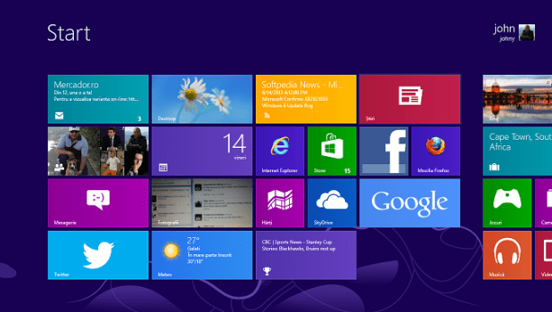 Interfata Metro - Windows 8
