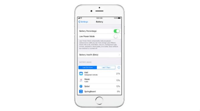 iOS 11.3 battery health