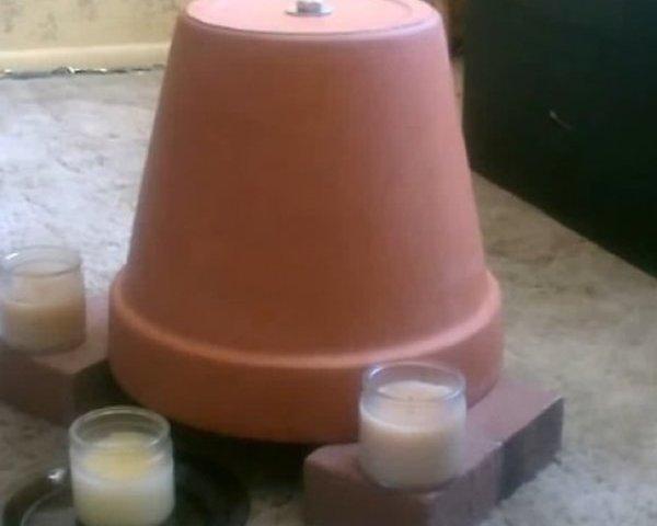 Kada se radijatori ohlade: Napravite grijalicu od 2 glinene lončanice u 3 koraka