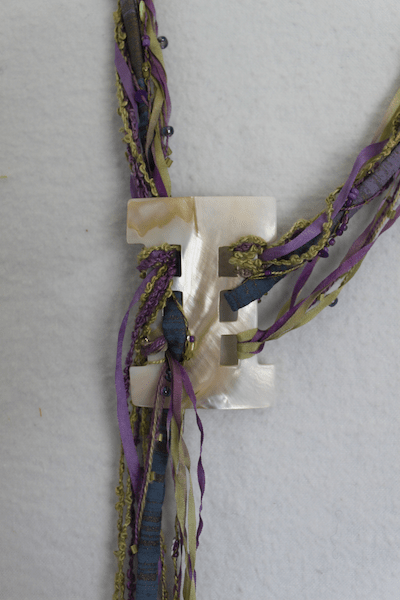 Detail of Fibre Art Necklace