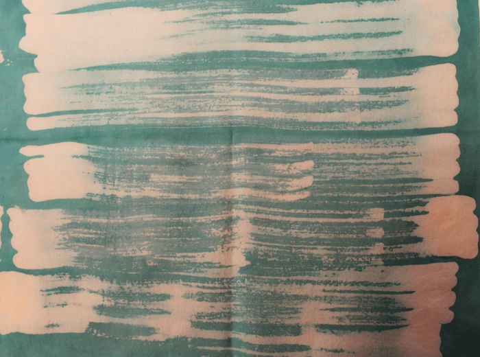 hand dyed green fabric