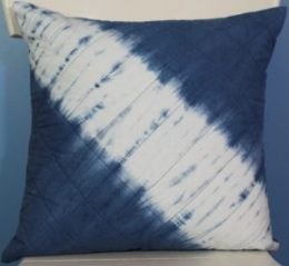 Indigo Itajime diagonal pillow top