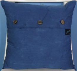 Indigo Itajime Shibori pillow back