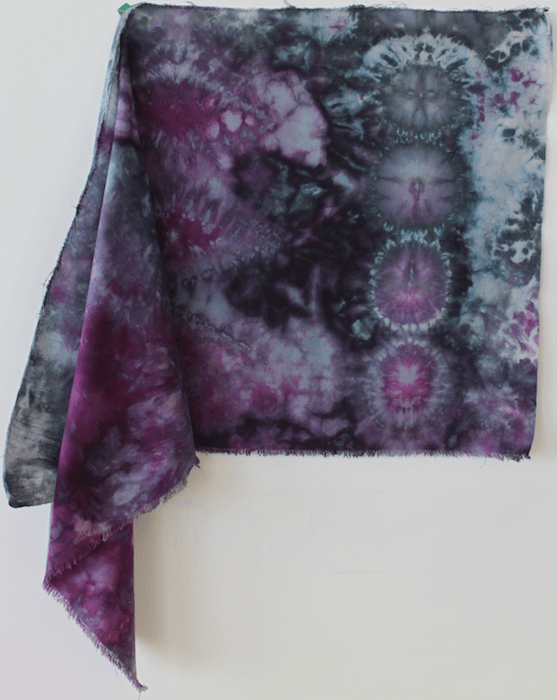 Nui Shibori snow dyed cotton