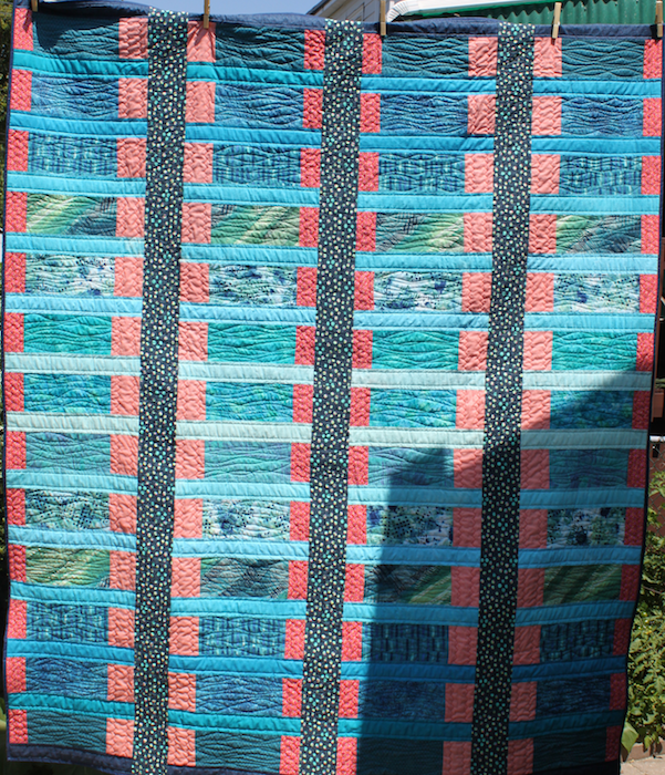 Blue Bayou Quilt front