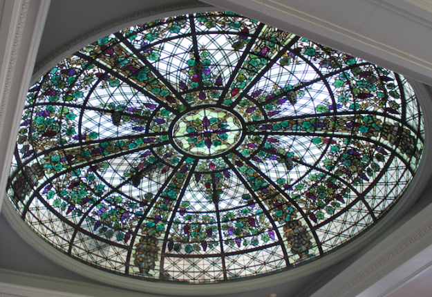Stained glass cupola in Casa Loma