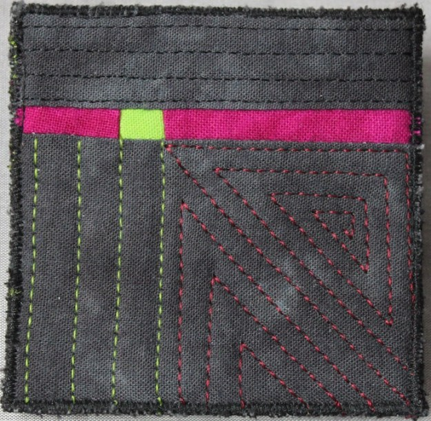 Fineline Brooch_black_fuchsia_green