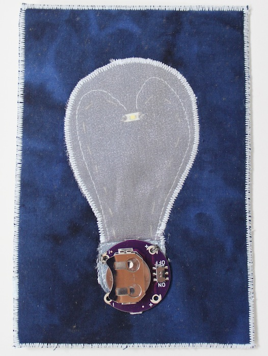 Light bulb postcard