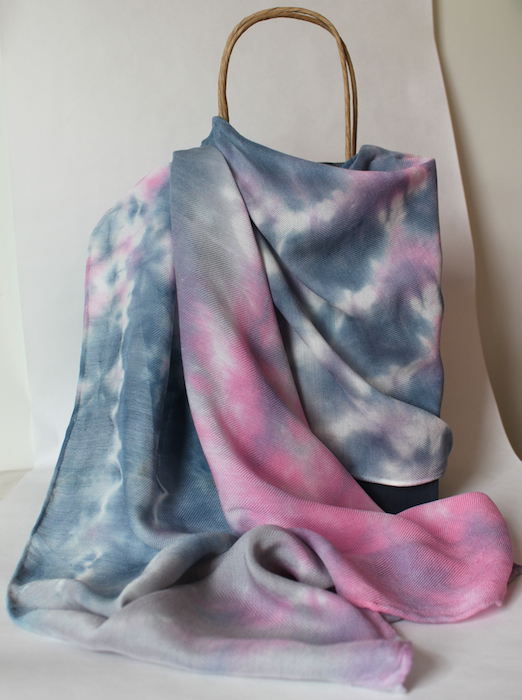wool silk pastel hand dyed scarf by doris lovadina-lee