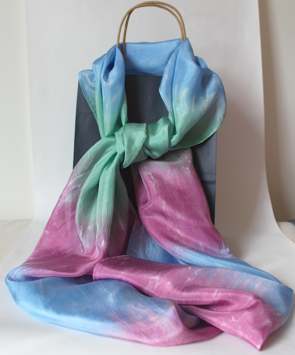 hand dyed silk scarf by Doris Lovadina-Lee