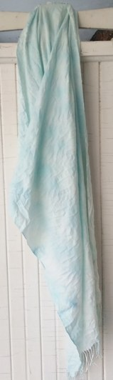 hand made pashmina not wool shibori scarf dyed with snow toronto ontario canada