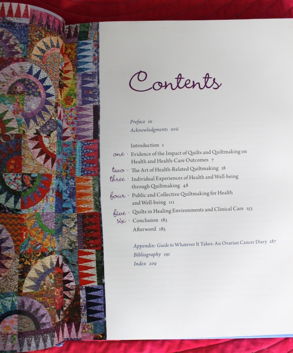 Quilts and health table of contents with Radiant light quilt by doris lovadina-lee toronto quilter