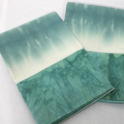 dip dyed pillowcases set of 2, unique and colorful gift handmade in canada by doris lovadina-lee