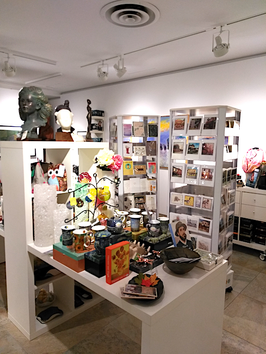Cards and mugs displayed in Muse Shop + Rental London Ontario Canada