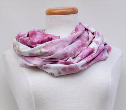 smallbatch snow dyed scarf linen/rayon made toronto ontario
