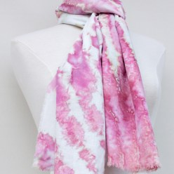 watercolor effect in pink snowdyed by doris lovadina-lee toronto ontario canada