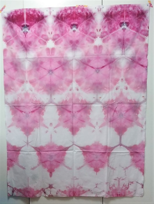 one yard snow dyed fuchsia pink shibori quilting cotton doris lovadina-lee
