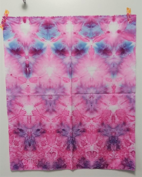 half yard canadian snow dyed itajime shibori quilt cotton doris lee