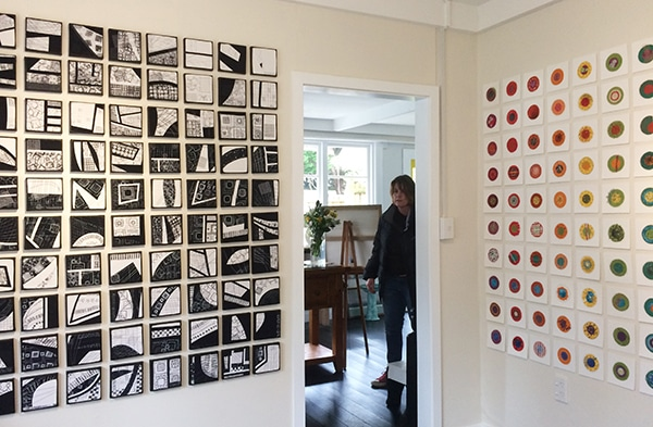 Artwork by Lisa Call and Sara Boland in the Tutere Gallery, New Zealand.