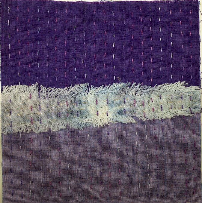Day 22 stitch meditation square 100 day stitch meditation challenge doris lovadina-lee textile artist toronto canada