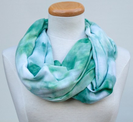 twisted green scarf hand dyed in toronto ontario canada