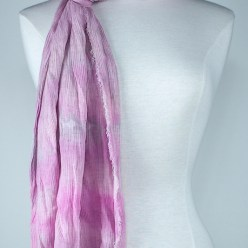 soft pink rayon and crinkle scarf snowdyed scarf made in canada
