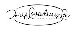 Doris Lovadina-Lee Designs Logo in black and white textile arts