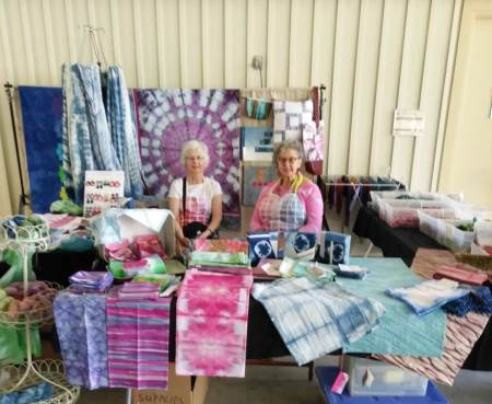 Vendor's both for Doris Lavadina-Lee Designs and Anne Peters' Hand dyed fabrics at Quilts at the Creek Festival 2019