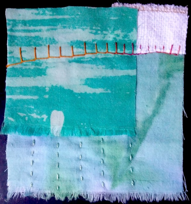 stitch meditation day 61 by doris lovadina-lee textile artist