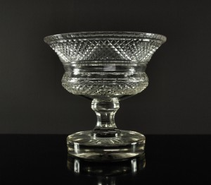 English Cut Glass Tazza