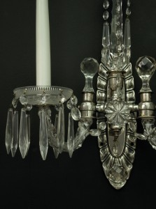 French Cut Glass Wall Lights