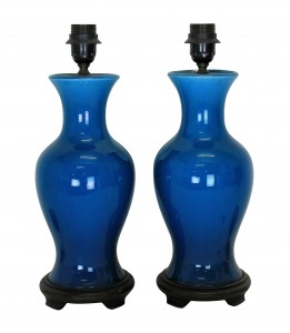 Chinese Blue Lamps