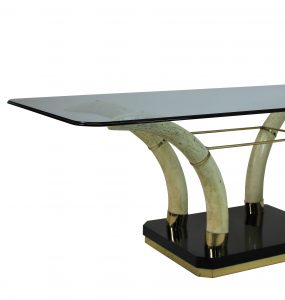 Faux Elephant Tusk Dining Table