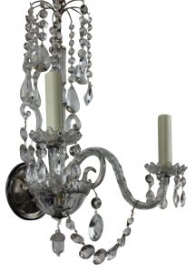 Antique Glass Sconces