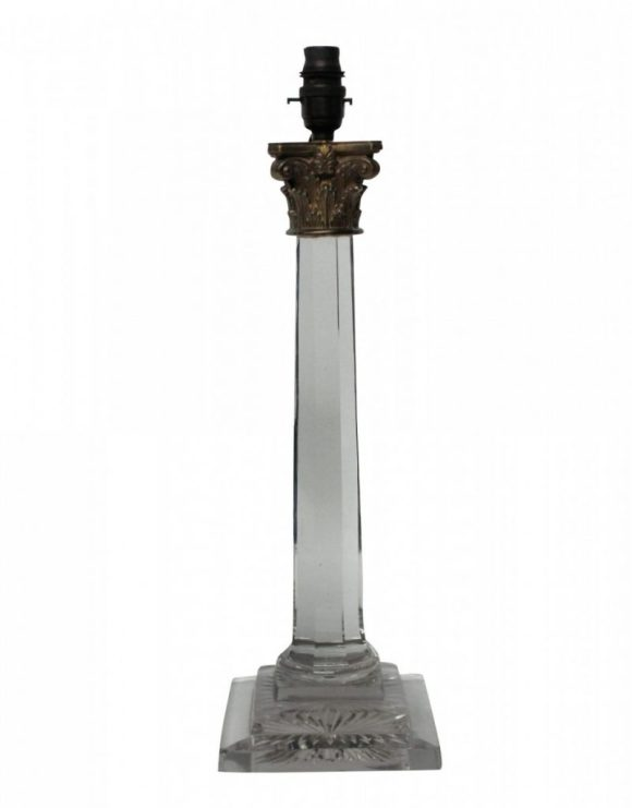 Glass Column Lamp