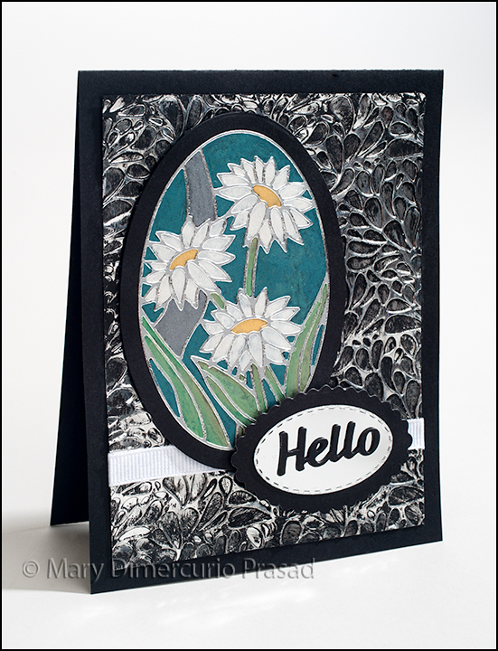 Daisies Card Front Side View