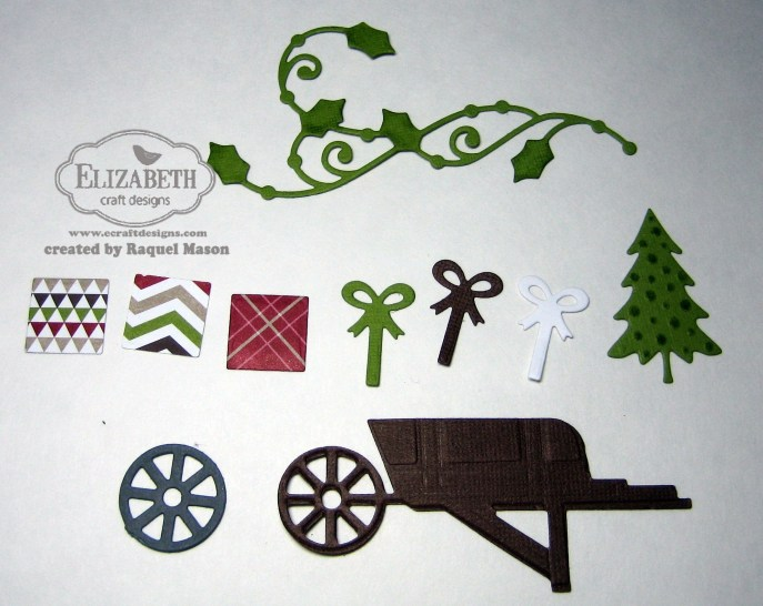 ECD Wheelbarrow  w presents pieces