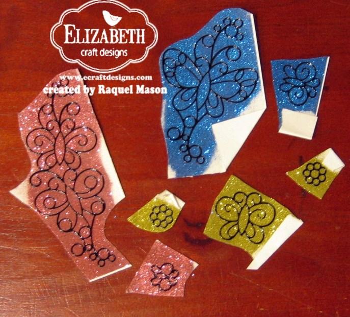 ECD Silk Microfine Glitter Butterflies pieces 2