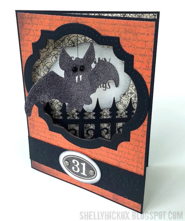 shelly hickox pop it ups bat halloween card