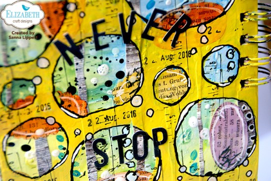 Sanna Lippert, die cut detail art journal page