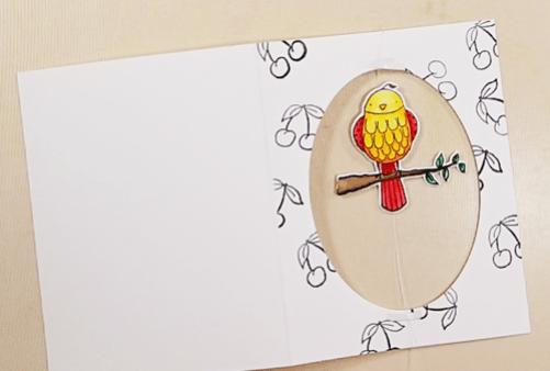 Bird on a Wire Card - Step 7