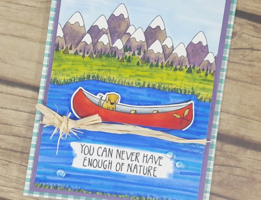 Camping Out Colorado Canoe Card